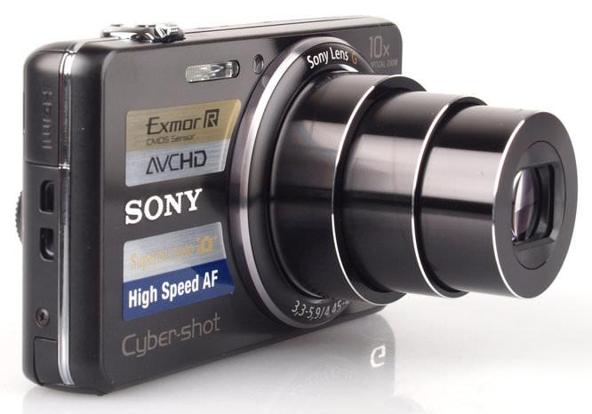 Sony Cyber Shot DSC WX100 Front Zoom