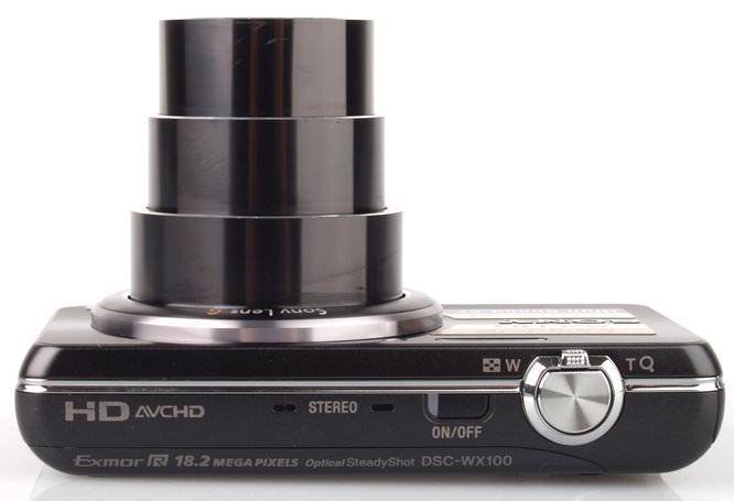 Sony Cyber Shot DSC WX100 Top