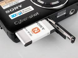Sony Cybershot DMC-WX5 battery compartment