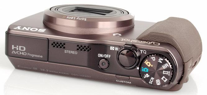 Sony Cybershot DSC-HX20V Top