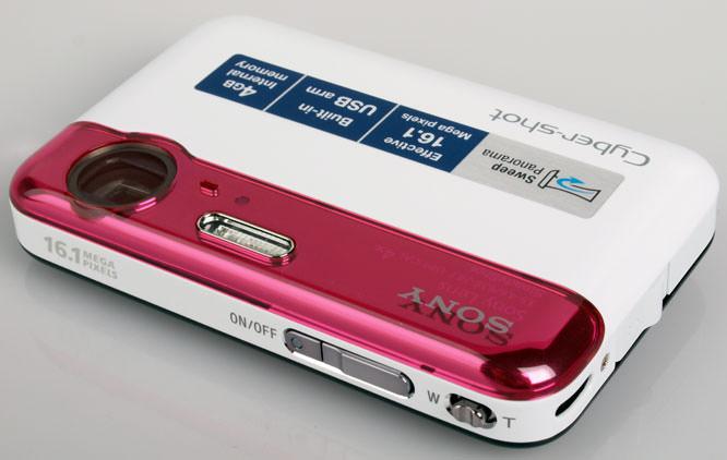 Sony CyberShot DSC-J10 top