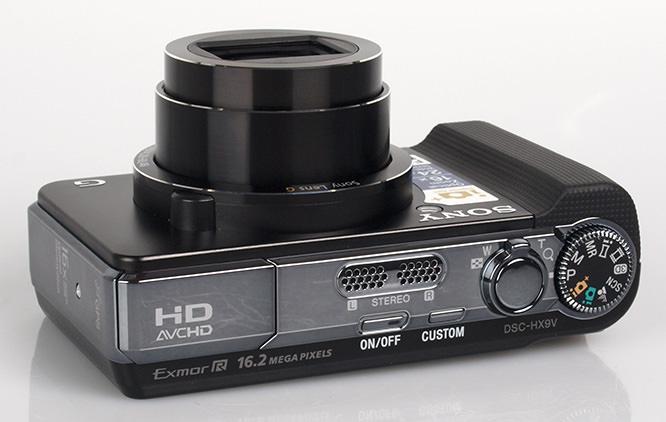 Sony Cybershot HX9v GPS Top