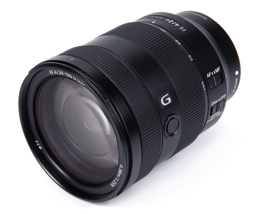 Sony Fe 24 105mm F4 G Oss Front Oblique View