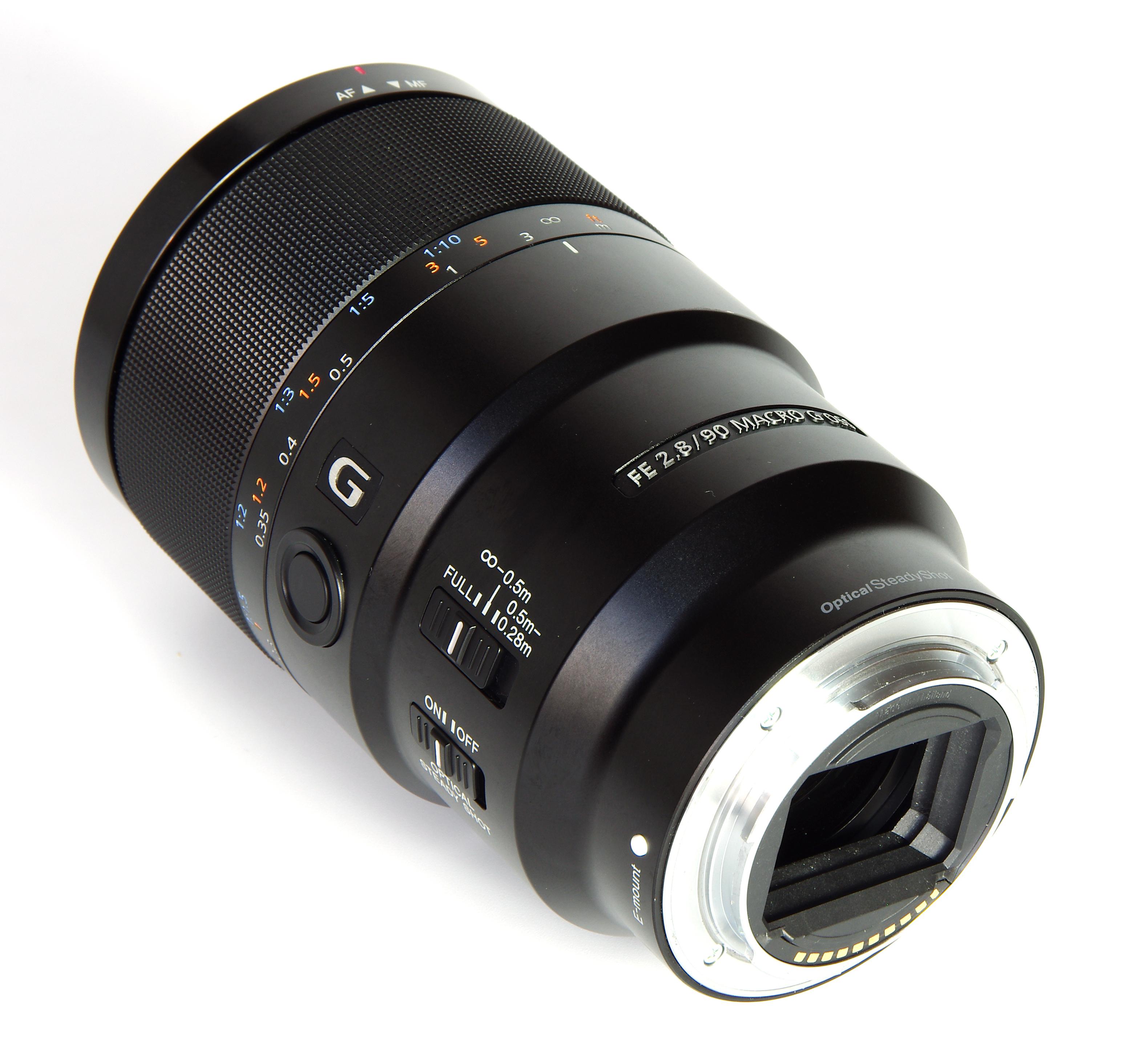 sony 90mm macro. sony 90mm macro rear oblique view 2