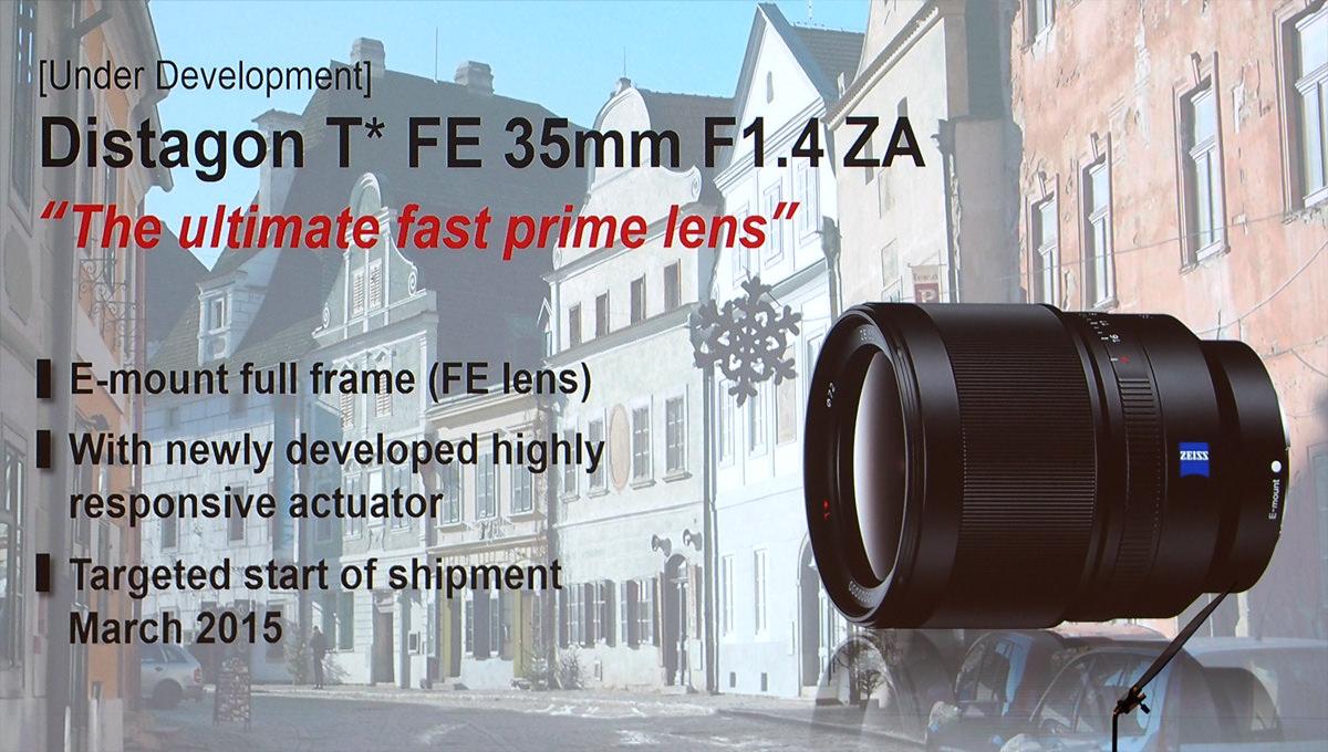 Sony Lens Roadmap 2015 Plus New FE Full-frame Lenses