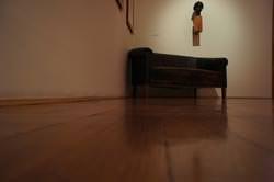 Sony NEX-5 brown sofa
