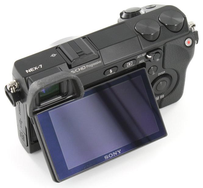 Sony NEX-7 Rear Angle