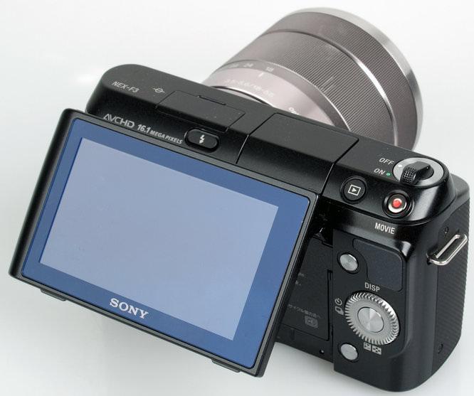 Sony Nex F3 Tilted Screen