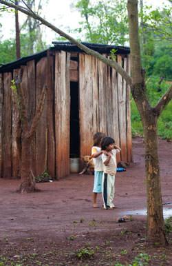 Iguazu. A village found in the jungle.