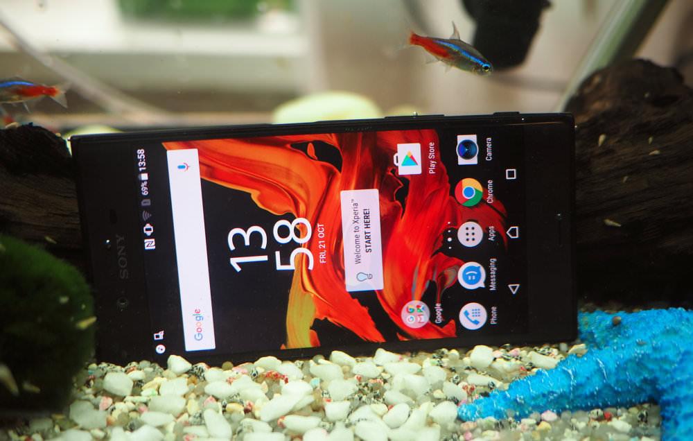 Sony Xperia XZ Underwater