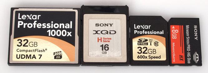 Xqd Card Size Comparison