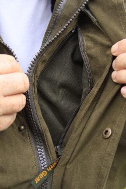 Hidden Secure pocket inside the Stealth Gear Jacket
