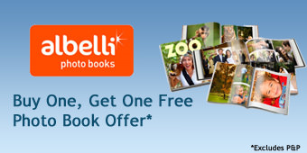 Albelli buy one, get one free offer