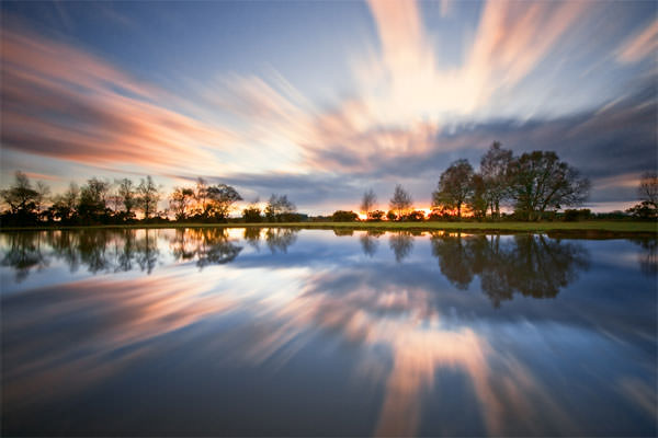 Sunset -Fritham Pond - New Forest