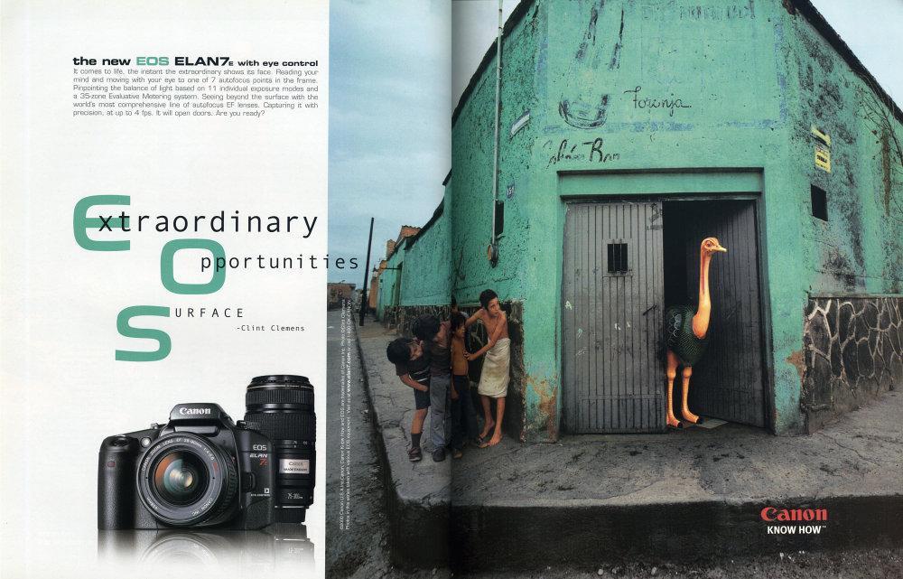 National Geographic Advert January 2002 Canon EOS 30 ELAN7e