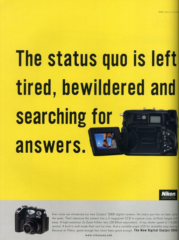National Geographic Advert January 2002 Nikon Coolpix 5000