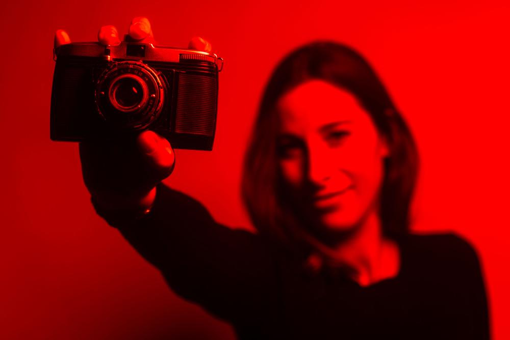 Red gel portrait