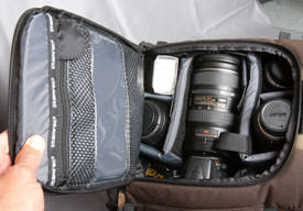 Tamrac Evolution 8 - main camera compartment