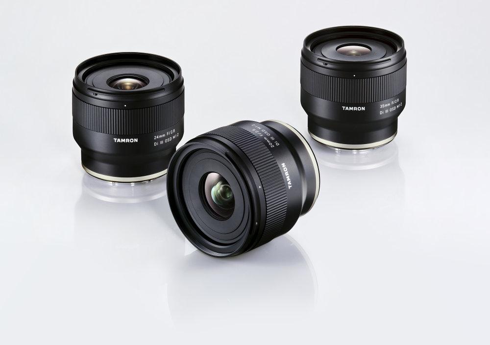 20mm F/2.8 Di III OSD M1:2, 24mm F/2.8 Di III OSD M1:2, 35mm F/2.8 Di III OSD M1:2