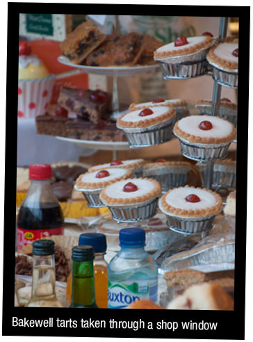 Buns taken through a shop window using Tamron 18-270mm