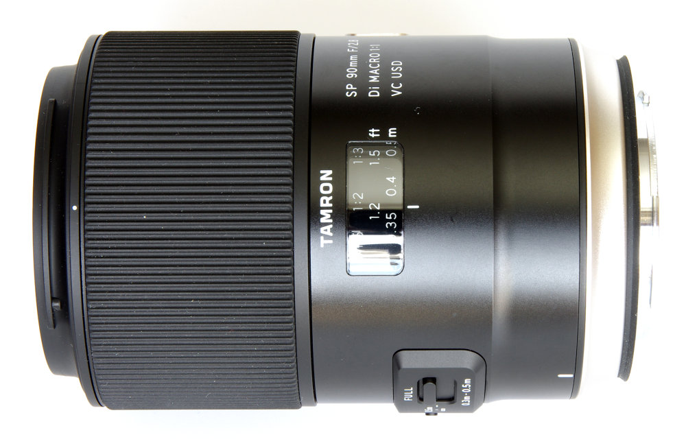 Tamron Sp 90mm F2,8 Macro Side View