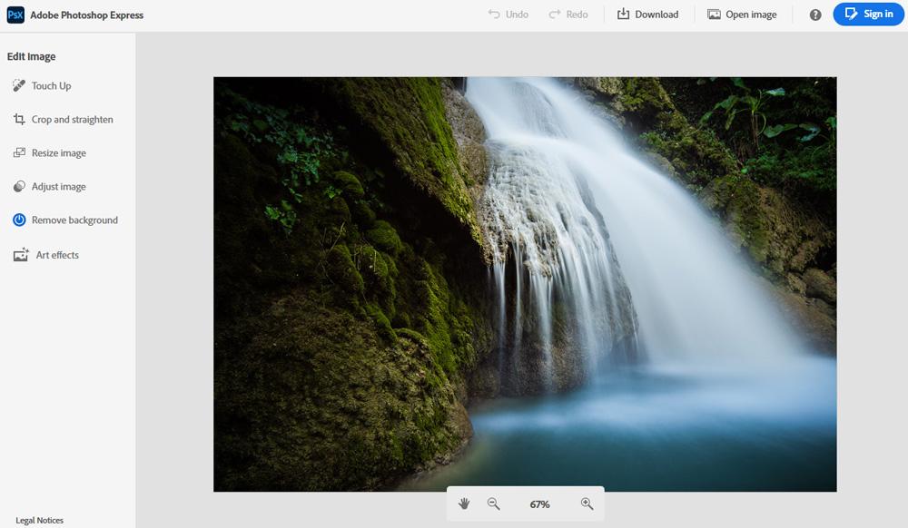 Adobe Photoshop Express online