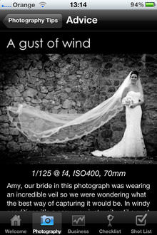 Wedding Photographers Starter Kit - Advice page