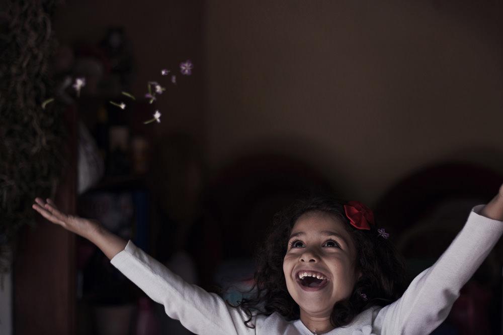 Candid shot of a little girl