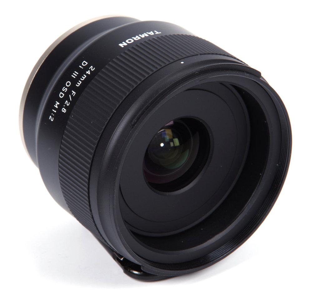 Tamron 24mm F2,8 Front Oblique View