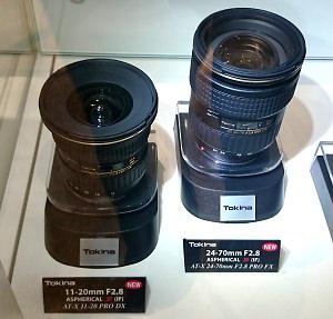 Tokina 11-20mm f/2.8 24-70mm f/2.8 Lens Shown