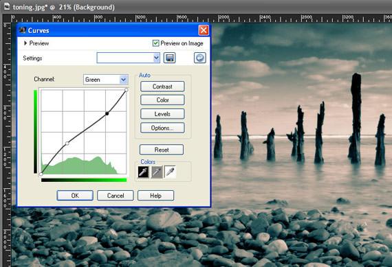Paint Shop Pro X3  - Curves