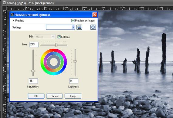 Paint Shop Pro X3  - Hue, Saturation and Lightness