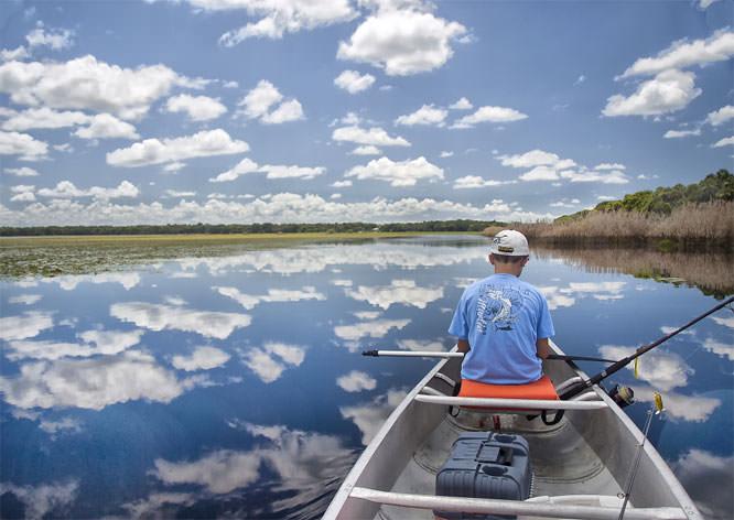 Fishing on Myakka lake