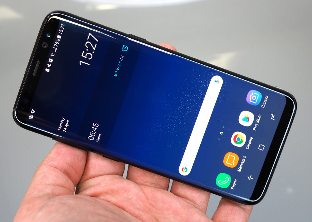 Samsung Galaxy S8 In Hand