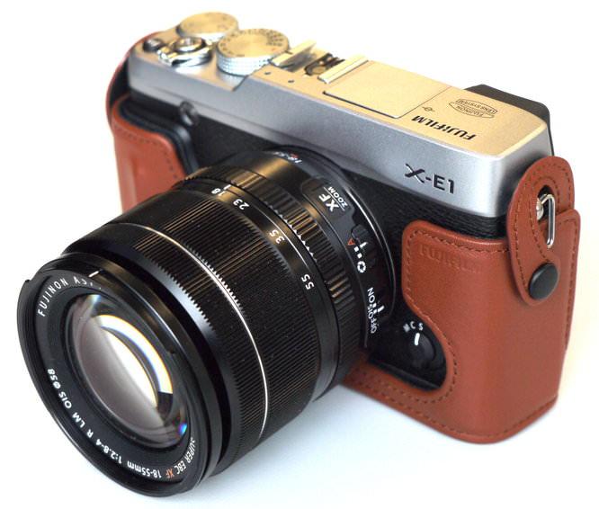 Fujifilm X E1 Hands On With Tan Case (11)