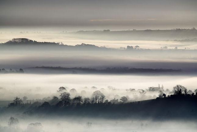 Fog landscape David Clapp