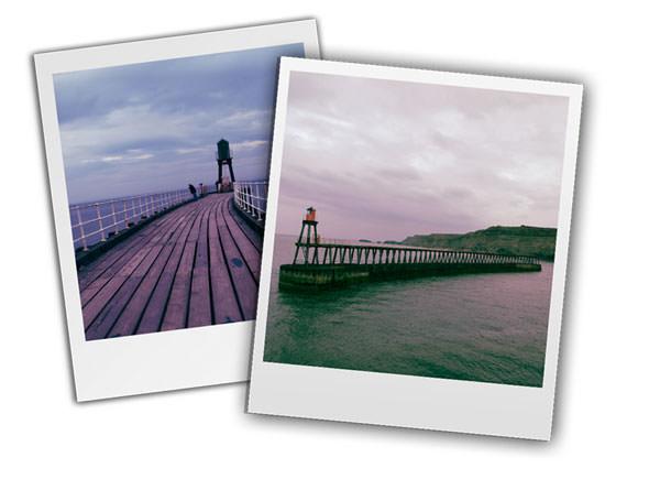 Polaroid shots made in Photoshop