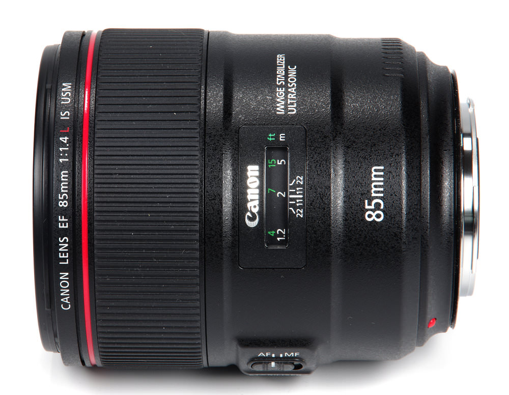 Canon 85mm F1,4l Top View
