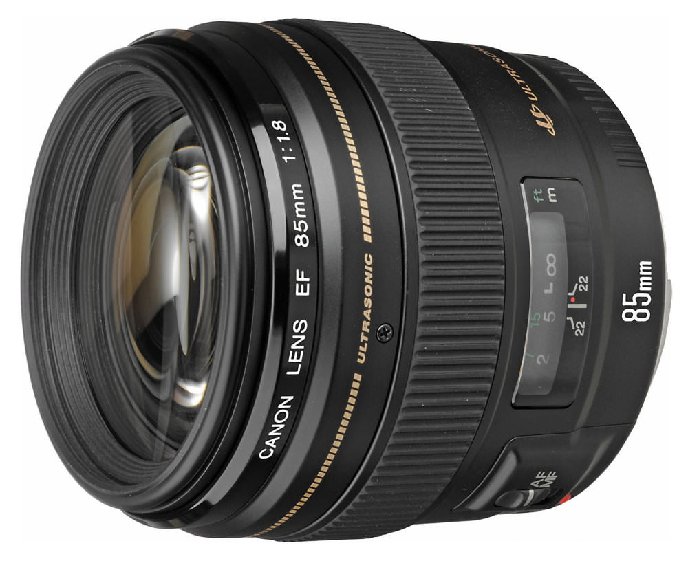 Canon Ef 85mm F1 8 Angled
