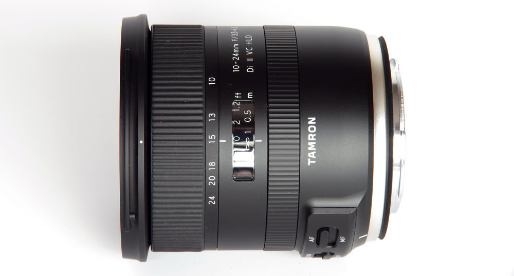 Tamron 10 24mm DiII Vc Hld Top View
