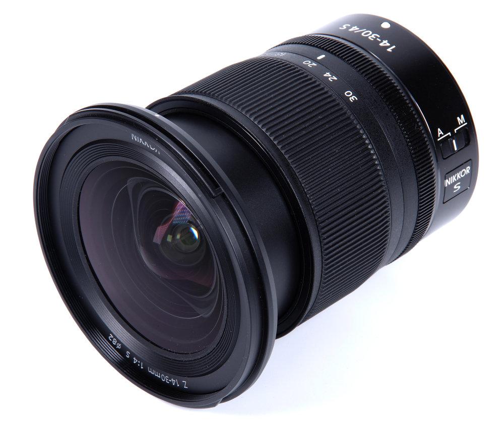 Nikon Z 14 30mm F4 Front Oblique View