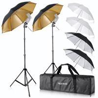Neewer® Flash Mount Three Umbrellas Kit