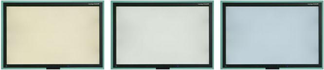 Colour temperature of screens