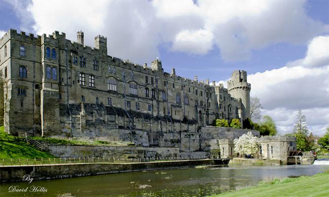 River side View of Warwick Castle