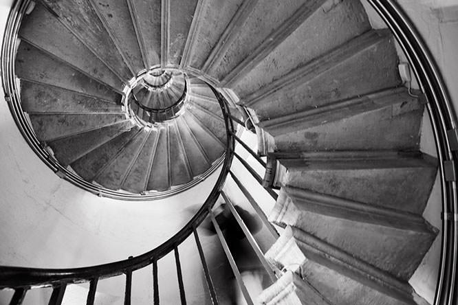 Stairs taken in low light