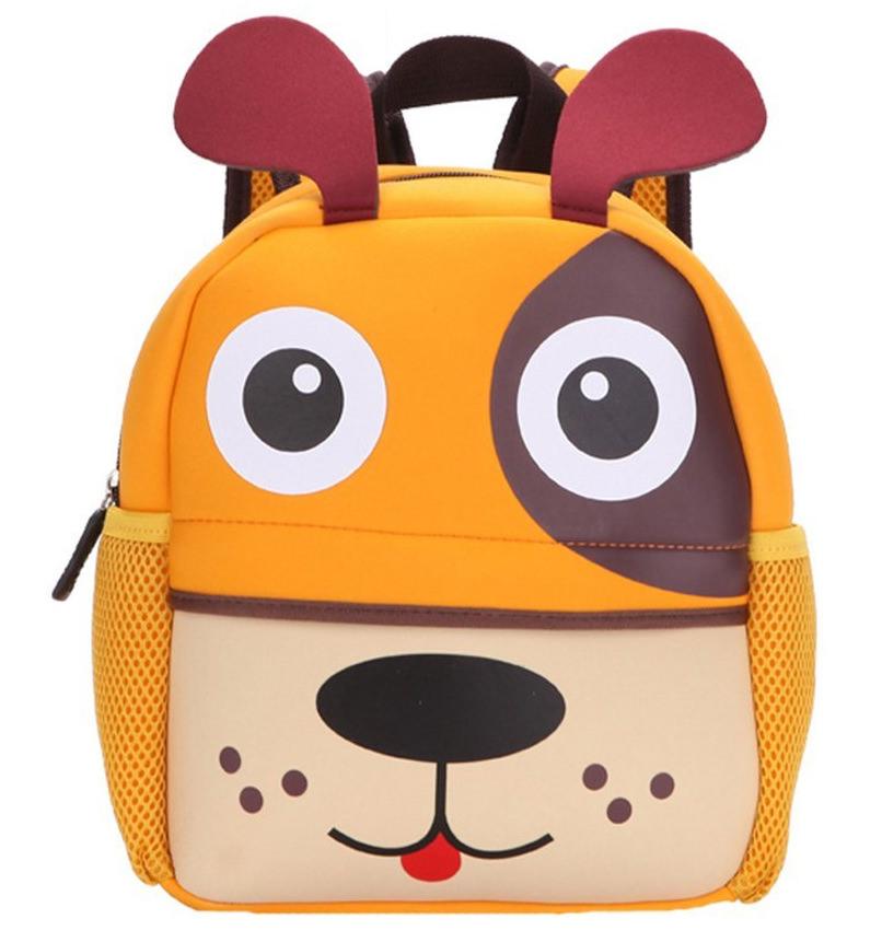 Moolecole Kindergarten Children Cartoon Backpack Animal Schoolbag Waterproof Breathable Bag Gog