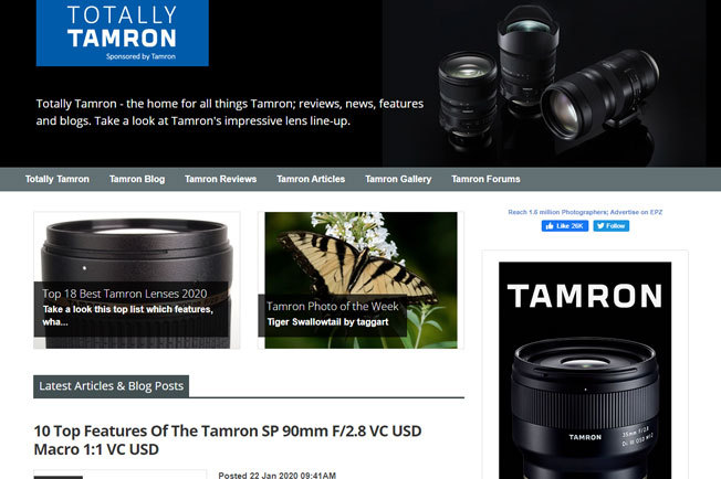 Totally Tamron Website Is Back!