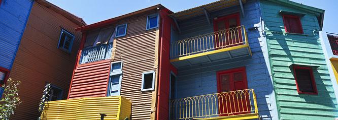 Houses in La Boca area of Buenos Aires