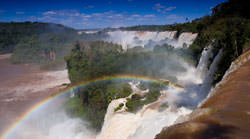 Iguazu Falls with a Rainbow