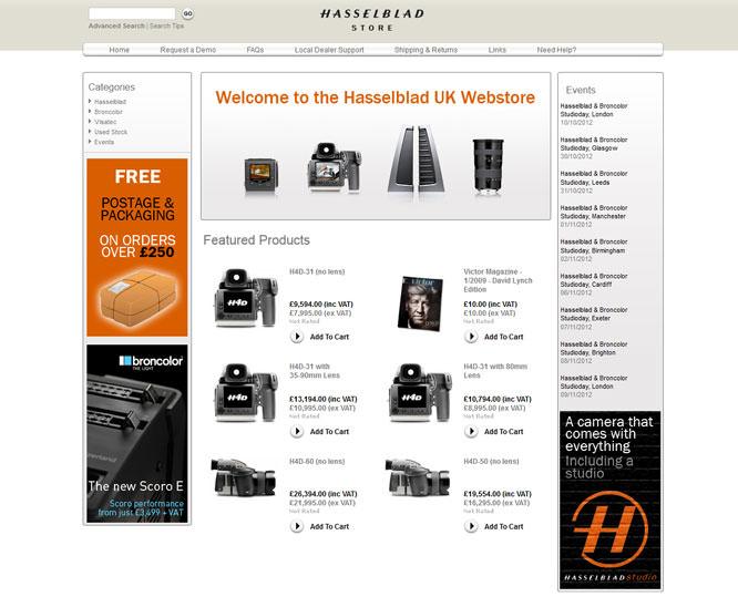 Hasselblad UK Webstore